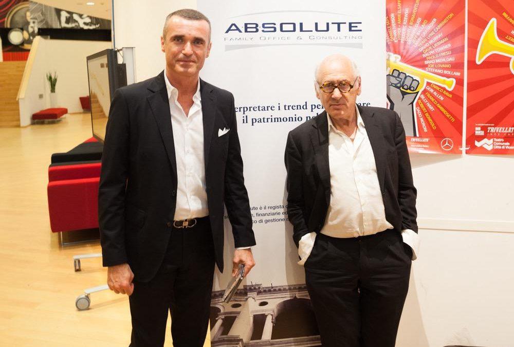 Grande serata per Absolute, sponsor del concerto del Maestro Michael Nyman